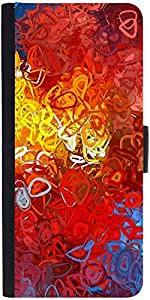 Snoogg Red Abstract Designer Protective Phone Flip Case Cover For Xiaomi Redmi Note Prime