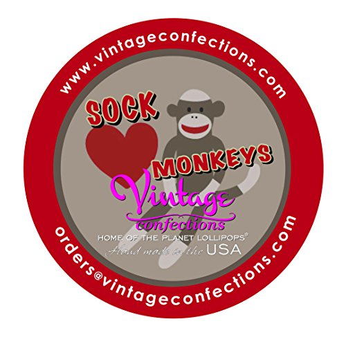 Vintage Confections Sock Monkey Lollipops