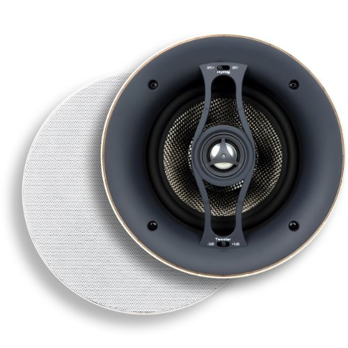 Micca R-6C 6.5-Inch Reference Series Rimless In-Ceiling Speaker, White