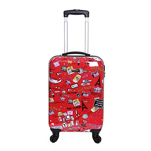 Karabar Dewberry 55 cm bagaglio a mano rigida, Rosso