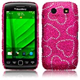 BLACKBERRY TORCH 9860 LOVE HEARTS DESIGN DIAMANTE CASE / COVER / SHELL / SHIELD PART OF THE QUBITS ACCESSORIES RANGEby Qubits