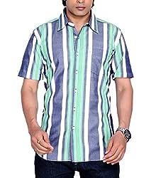 Moksh Men's Striped Casual Shirt V2IMS0414-09 (Large)