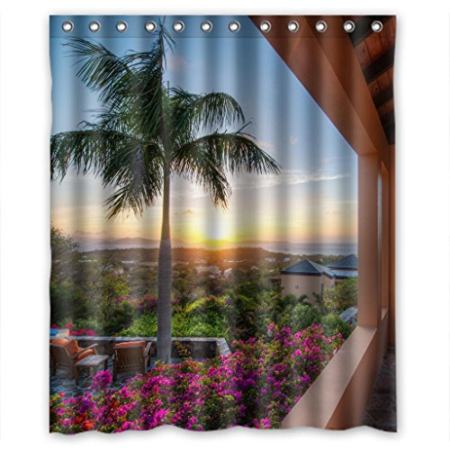 """Sale alerts for Malcolm-Fashion Mountain flowers and trees Beautiful Scenery Shower Curtain Measure 60""""(w)*72""""(h) - Covvet"""