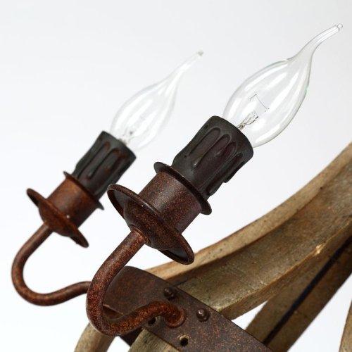 LightInTheBox Vintage Amercian Rustic Wooden Pendant Wine Barrel Chandelier Lamp Liviing and Bedroom Lamp Ceiling Lights 4