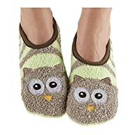 Snoozies Womens Animal Mary Jane Socks