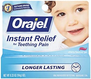 Orajel Teething Instant Relief Gel, 0.33 Ounce