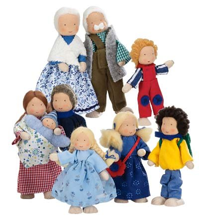 Kathe Kruse Modern Dollhouse Dolls Dressed In Contemporary Outfits, In Grandma front-809360
