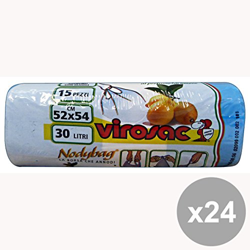 Set di 24 VIROSAC Sacchi 52x54 Limone SHOPPERS * 15 Pezzi Riordino