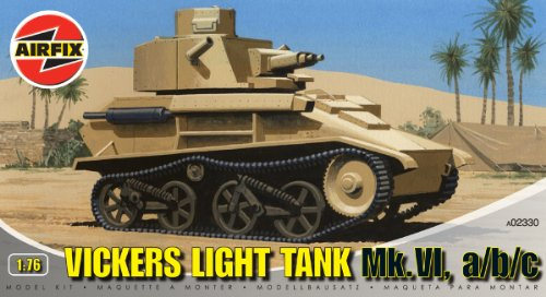 Airfix A02330 1:76 Scale Vickers Light Tank Military Vehicles Classic Kit Series 2 - 1