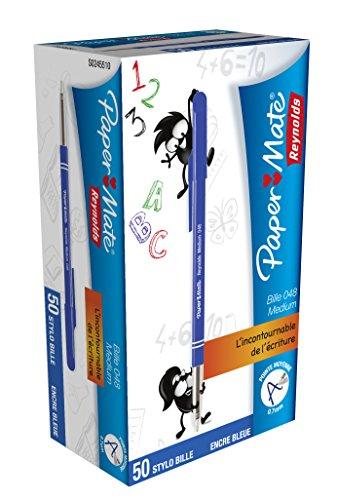 papermate-048-stylo-bille-pointe-moyenne-bleu-lot-de-50