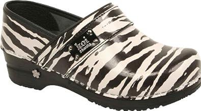 Sanita Women's Wild Side Clog,Zebra,36 EU/5.5-6 M US