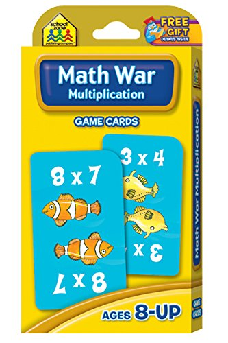 Math War Multiplication Game Cards