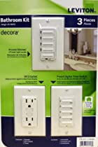 Leviton Bathroom Decora 3 PACK (4-Level Dimmer - GDCI Outlet - Preset Digital Timer Switch) Package
