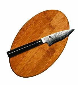 Shun DM0754K Perfect Paring Knife and Cutting Board Set