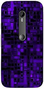 Snoogg Purple Digital 2422 Designer Protective Back Case Cover For Motorola G...