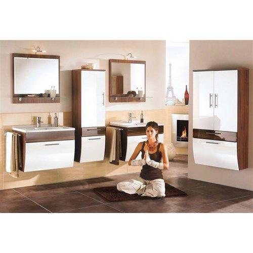 baumarkt direkt Badmöbel-Serie »Lucca« weiß Spiegel mit Beleuchtung, Breite 70 cm
