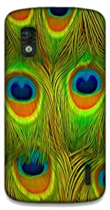 The Racoon Grip Bright Feathers hard plastic printed back case / cover for LG Nexus 4