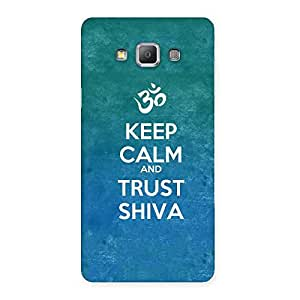 Ajay Enterprises Elite Trust Shiva Lord Back Case Cover for Galaxy A7