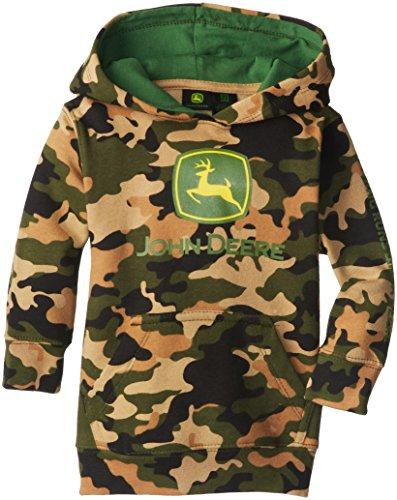 John Deere Little Boys' Trademark Fleece Pullover Hoodie, Camouflage, 3T front-965826