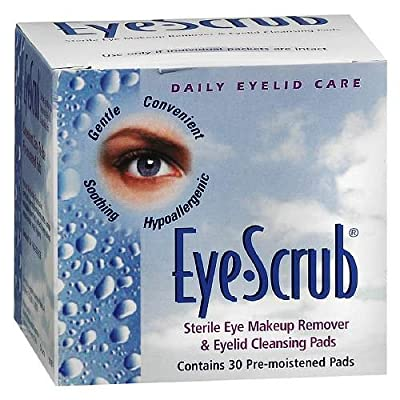 Eye Scrub Sterile Eye Makeup Remover and Eyelid Cleansing Pads