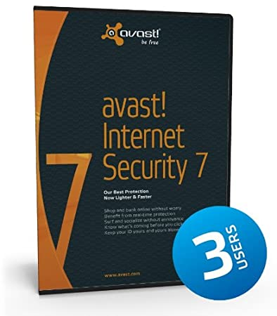 Avast Internet Security 7 (3 Users/PCs) - 1 Year Subscription