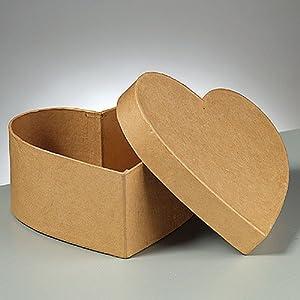 herz dose pappe karton zum basteln und selbstgestalten 5x5x2 5cm spielzeug. Black Bedroom Furniture Sets. Home Design Ideas