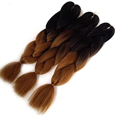 3pcs 24 Ombre Synthetic Braiding Hair Jumbo Braiding Hair Extension