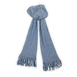 Missoni SA57WMD4692 Blue Zigzag Knit Wool Blend Ladies Stole