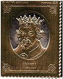 Sellos de oro - Staffa 1977 Reina del jubileo de plata del rey Enrique I 23k sello de la hoja de oro - alta calidad - Nunca montado - Nunca bisagras