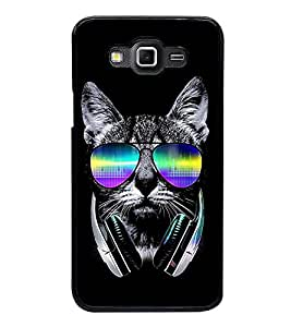 Printvisa Ultra Cool Cat 2D Hard Polycarbonate Designer Back Case Cover for Samsung Galaxy Gr...
