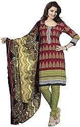 K.K BROTHERS Women's Crepe Dress Material (Maroon)