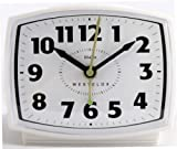 Westclox White Quartz Analog Alarm Clock 22192