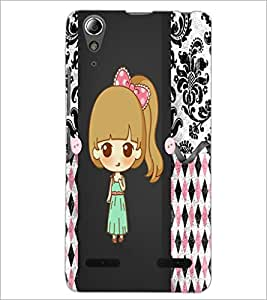 PrintDhaba Cute Doll D-3528 Back Case Cover for LENOVO A6000 PLUS (Multi-Coloured)