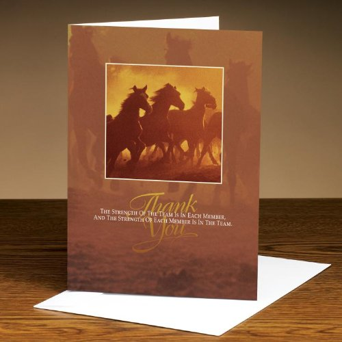 Successories Thank You Horses 25-Pack Greeting