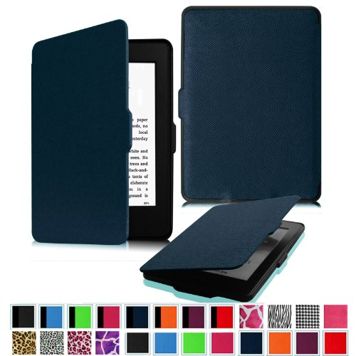 Fintie Amazon Kindle Paperwhite case the thinnest, lightest protective leather cover magnet function [Kindle Paperwhite en] (Kindle Paperwhite, 1 Navy)