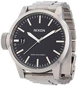 Nixon Men's A197-307 Plastic Grey Dial Watch