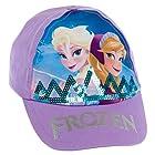 Disney Frozen Girl's Cotton Ana & Elsa Logo Baseball Cap Hat (Purple)