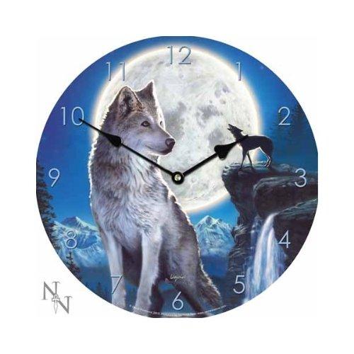 Orologio da parete di legno firmato David Penfound - BLUE MOON NOW9940