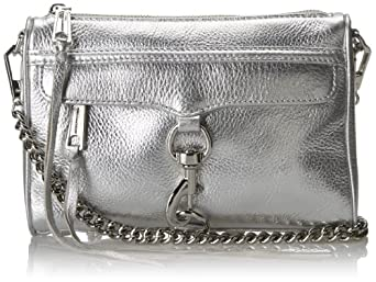 Rebecca Minkoff Mini MAC Convertible Crossbody,Silver,One Size