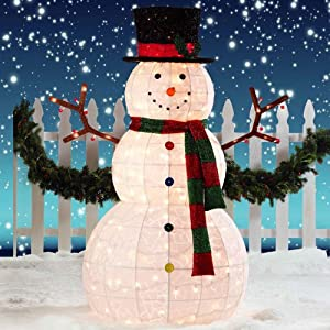 Giant snowman led christmas decoration for for Amazon christmas lawn decorations