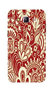 Back Cover for Samsung Galaxy J3 ABSTRACT FLORAL