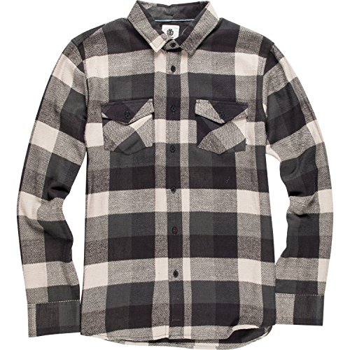 Camicia A Maniche Lunghe Element Tacoma Flint Nero (M , Nero)