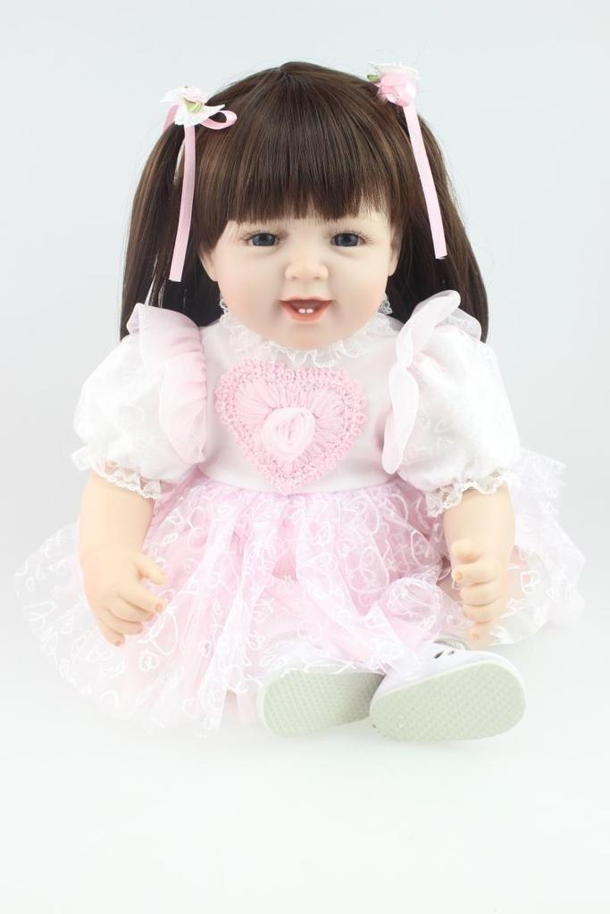 NPK Collection Reborn doll Die Puppen ist aus weichem Silikon. Es ist 22 Zoll 55 cm. Es ist ein h¨¹bsches und s¨¹?es Spielzeug f¨¹r M?dchen Geschenk f¨¹r sch?ne als Weihnachtsgeschenke. günstig online kaufen