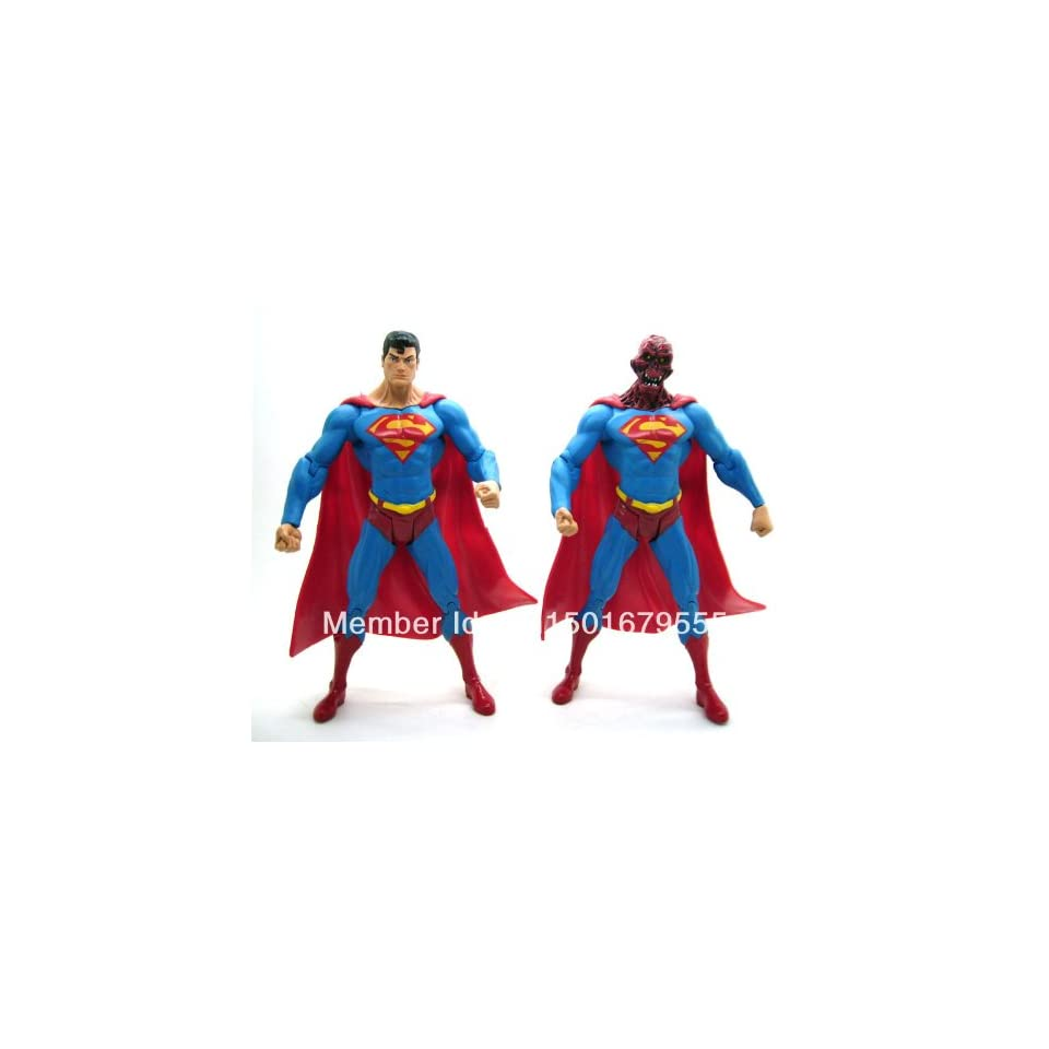 DC Direct DCD Superman Man of Steel Series 6 Enemies Among Us and Alien Head 7 Loose Action Figure Set Figurine Toy Doll