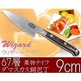 ウィザードナイフ 67層ダマスカス鋼包丁 果物ナイフ