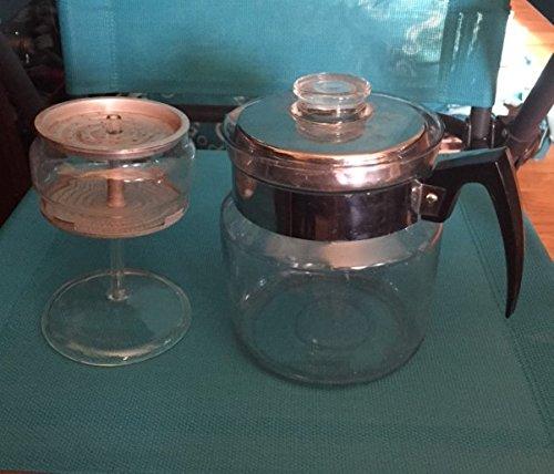VINTAGE Pyrex Flameware 9 cup Coffee Pot Percolator Complete (Pyrex Coffee Percolator compare prices)