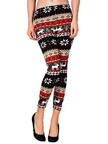 Hot Christmas New knit wool like thermal leggings colorful Seasonal patterns
