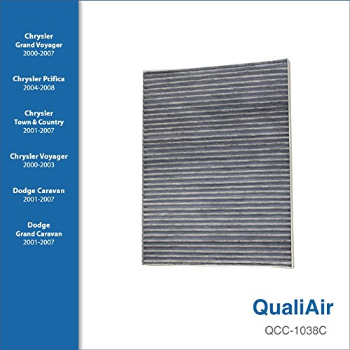 QualiAir QCC-1038C, Activated Carbon Cabin Air Filter For Chrysler (1Pack)