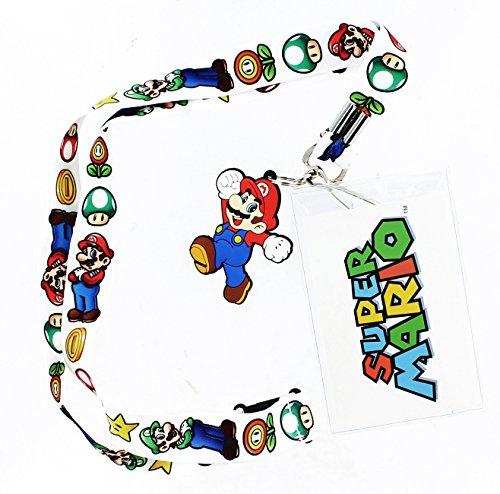 Super Mario Bros. Lanyard with Mario Charm