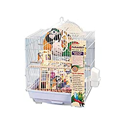 Penn Plax 64593 Small Bird Cage Kit Arch Style, White